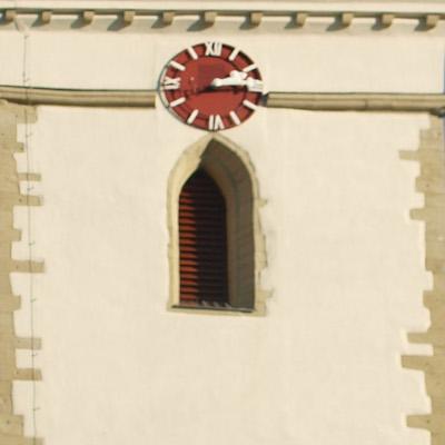 Kirchturm der Pfarrkirche Maria Schutz Groß-Enzersdorf